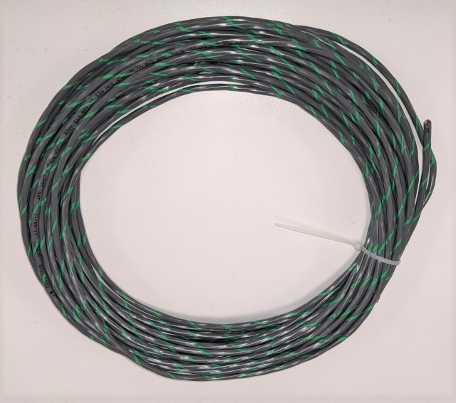 Cable Green Stripe